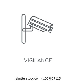 Vigilance linear icon. Vigilance concept stroke symbol design. Thin graphic elements vector illustration, outline pattern on a white background, eps 10.