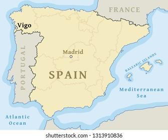 Vigo Spain Town Stock Vectors Images Vector Art Shutterstock