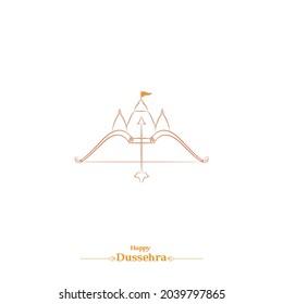 Vijayadashami also known as Dasara, Dusshera or Dussehra line drawing design