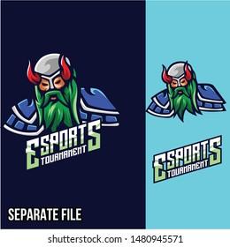 Viking Animals Esports Logo Badge designs