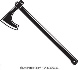 Viking Battle Axe, weapon axe, viking axe in vector