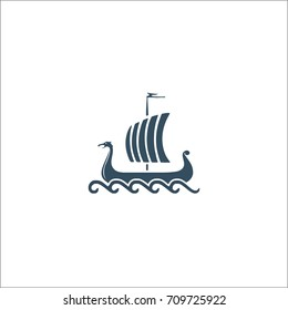 viking boats vector