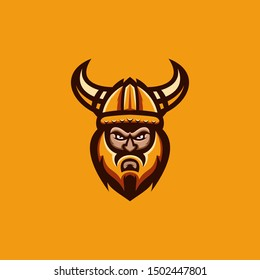 viking collections logo design vector