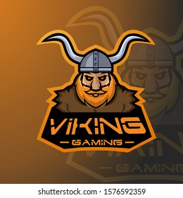 Viking  E Sports mascot Logo.Gaming logo
