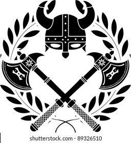 viking glory. stencil. first variant. vector illustration