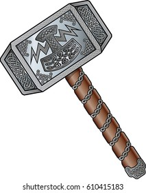 the viking god,  thors hammer