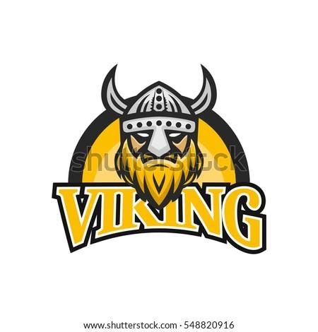 Viking Head Logo Design Stock Vector Royalty Free 548820916