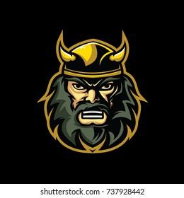 Viking Head Logo Vector