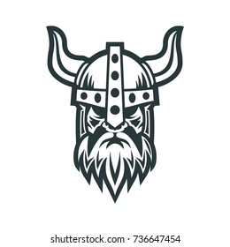 Viking Head Logo  Vector Logo Template