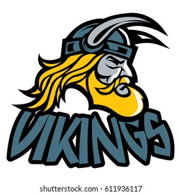 Viking icon, emblems, labels and logo