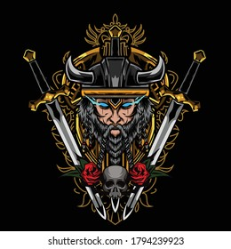 Viking illustration available for your custom project