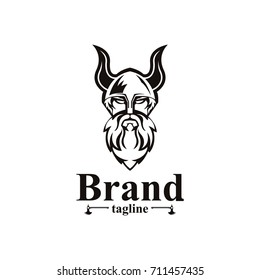 Viking logo. Easy to change color, size and text.