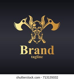 Viking logo. Easy to change size, color and text.