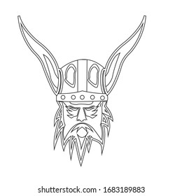 viking logo stock vektor template