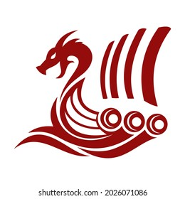 viking ship logo , simple and clean