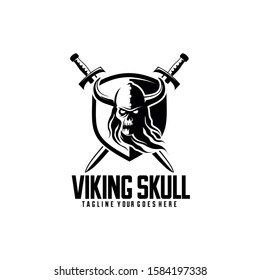 Viking Skull Logo Great for Any Related Logo Brand Theme Activity or Company.