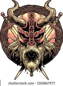 Viking Skulls, design for shirt