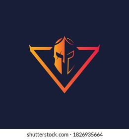 viking spartan logo graphic vector template