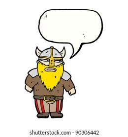 viking with speech bubble cartoon