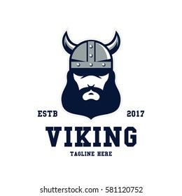 Viking sport logo design template