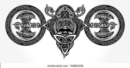 Viking Tattoos Images, Stock Photos & Vectors | Shutterstock
