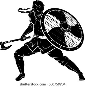 Viking Warrior Battle Stance