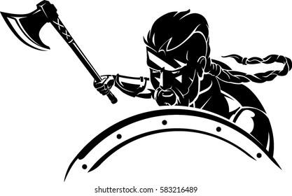 Viking Warrior Defensive Attack