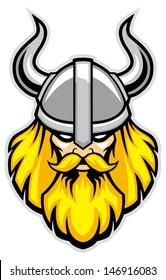 viking warrior head mascot