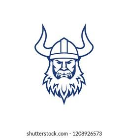 Viking warrior logo design. Viking sport logo design template. Viking mascot logo design. Trendy sport logotype illustration. Eps10 vector.