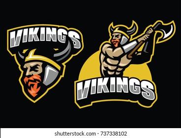 viking warrior mascot set