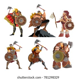 viking warriors characters collection