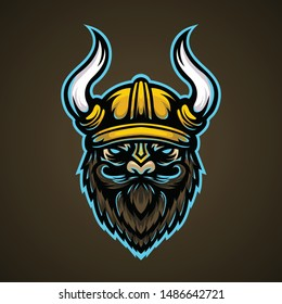 Vikings E sports With Gold Helmet Blue Eyes Suitable For Logo