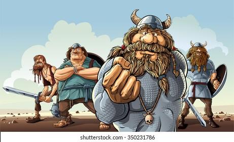 Vikings.  Four vikings stay on the way.