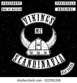 vikings gang leather jacket tee shirt graphic design