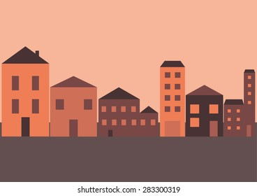 Village Buildings Package Vector