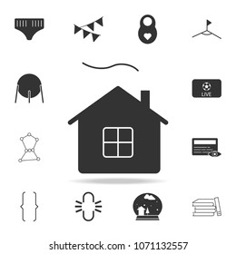 Village house silhouette icon. Detailed set of web icons. Premium quality graphic design. One of the collection icons for websites, web design, mobile app on white background