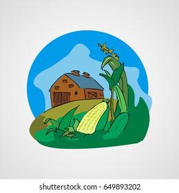 village vector cartoon clipart