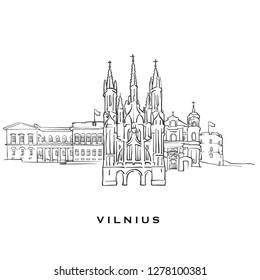 Vilnius Draw Images, Stock Photos & Vectors | Shutterstock