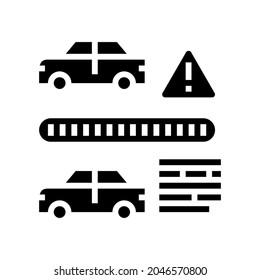 vin cloning fraud glyph icon vector. vin cloning fraud sign. isolated contour symbol black illustration