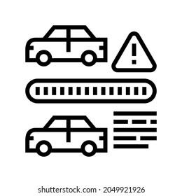vin cloning fraud line icon vector. vin cloning fraud sign. isolated contour symbol black illustration