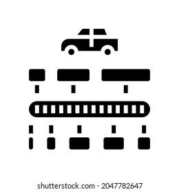 vin code decoder glyph icon vector. vin code decoder sign. isolated contour symbol black illustration