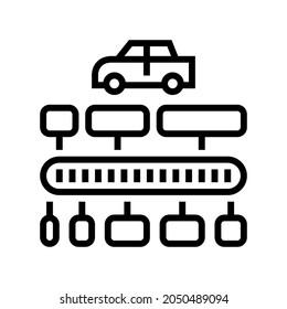 vin code decoder line icon vector. vin code decoder sign. isolated contour symbol black illustration