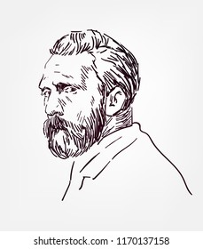 Vincent van Gogh vector sketch portrait