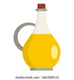 Vinegar bottle icon. Flat illustration of vinegar bottle vector icon for web