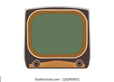 Vintage 1950s television vector illustration.