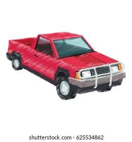 vintage 90s style car icon image
