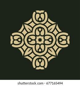 Vintage abstract ornamental logo. Element for design