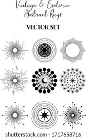 Vintage Abstract Rays. Vector EPS10