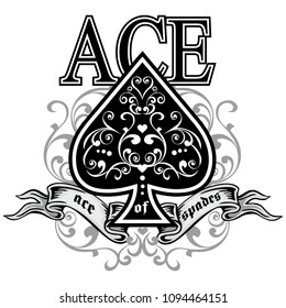 Ace of Spades Tattoo Stock Vectors, Images & Vector Art | Shutterstock