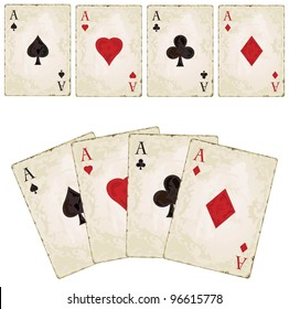 Vintage aces, poker